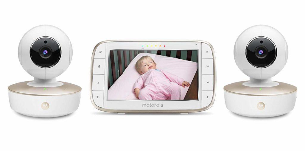 Motorola MBP50-G2 Video Baby Monitor with 2 Cameras & Split Screen